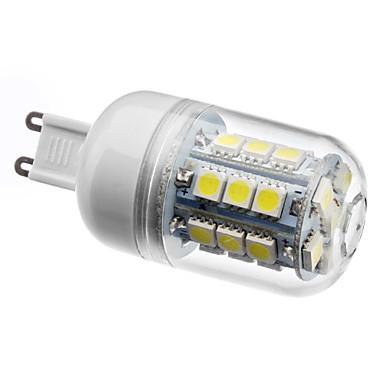 210lm G9 LED Mısır Işıklar T 27 LED Boncuklar SMD 5050 Doğal Beyaz 200-240V 220-240V