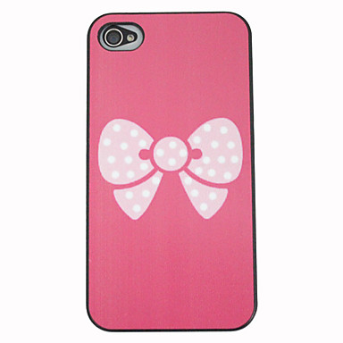 White Spots Bowknot Back Cover for iPhone 4/4S