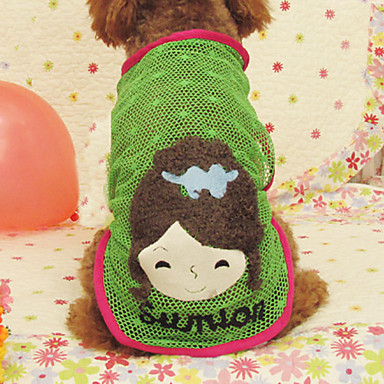 Smiling Girl Pattern Hollow Out Summer Style Skirt for Dogs (Assorted Color,S-XXL)