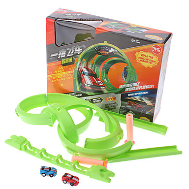 Pull-and-Go Mini Racing Car Running Track Package (Random Color)