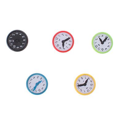 Colorido Imanes Reloj Estilo (5-Pack)