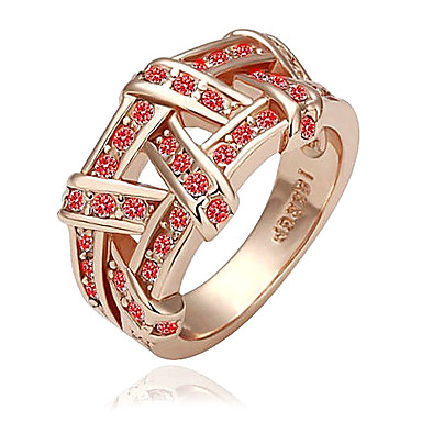 eruner®gold chapado en anillo libre de níquel con cristal austriaco (1 pieza)