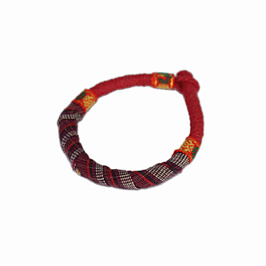 Hand Woven Fabric Chinese Style Bracelet(Random Colors)