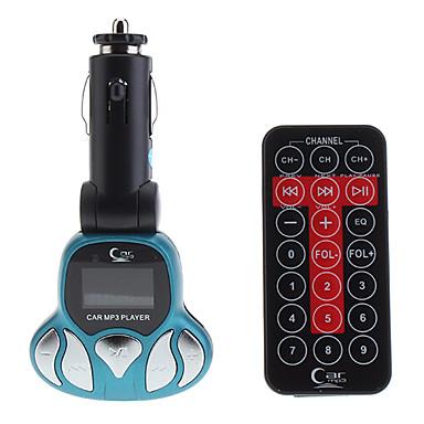 Universale multifunzionale Flame Modello Auto MP3 Trasmettitore FM con telecomando (supporto USB / TF)