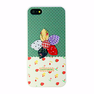 Cloth art flower Pattern Hard Case for iPhone 5/5S