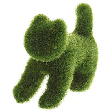人工芝による芝生ランド手作り動物猫