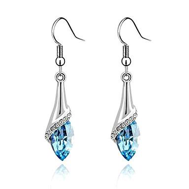 eruner®alloy zircon østrigske krystal fakkel mønster øreringe (assorterede farver)
