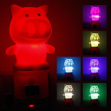 Pig Shaped Color Changing LED Night Light (220V)