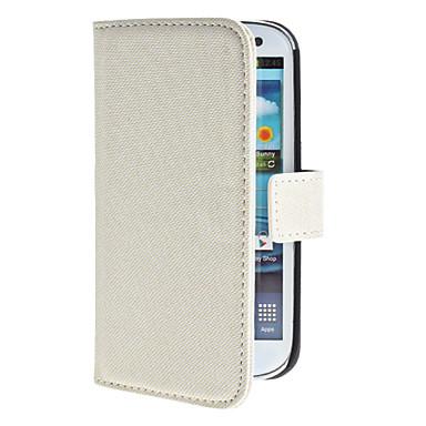suojaava PU nahkalaukku jalustan ja korttipaikka Samsung Galaxy S3 i9300