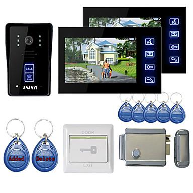 """povoljno Sustavi kontrole pristupa-7 """"boja handsfree video ulazni telefon s 2 monitora noćni vid RFID keyfobs elektronički kontrolni zaključavanje"""