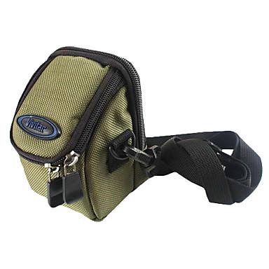 ince kartı dijital fotoğraf makinesi için kancalı yırtılmaz polyester yastıklı yumuşak koruyucu taşıma çantası durumda - ordu yeşil
