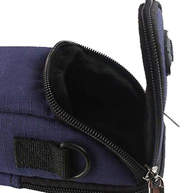 ince kartı dijital fotoğraf makinesi için kancalı yırtılmaz polyester yastıklı yumuşak koruyucu taşıma çantası durumda - mavi