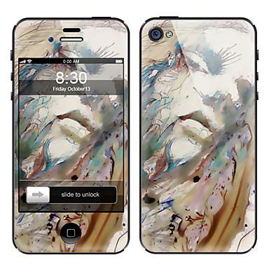 Pintura Abstracta Diseño frontal y posterior de la pantalla Protector de Cine para el iPhone 4/4S