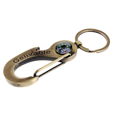 Bronze Keychain with Build-in Compass