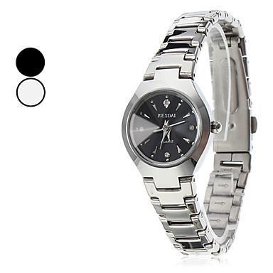 المرأة كوارتز ساعة المعصم الصلب متشابهة (فضية)