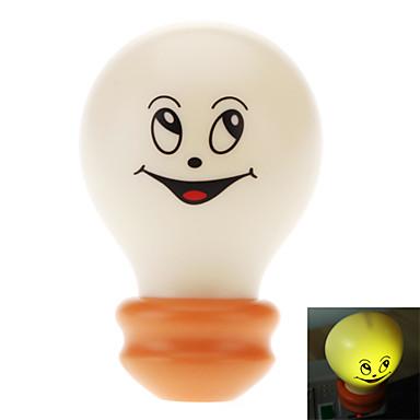 Light Sensor hymyilevät kasvot Polttimo Shaped Warm White Light LED Night Lamp (220V)
