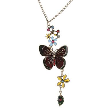 Del esmalte de la mariposa del collar de la vendimia