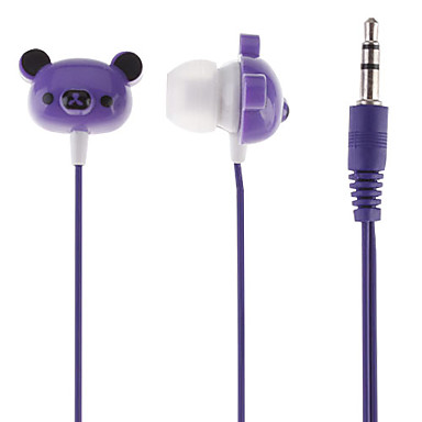 Bear Head Styled In-Ear Earphone(Blue,3.5mm)