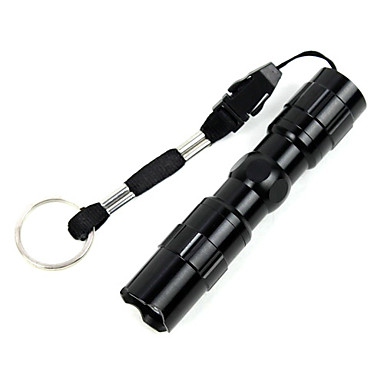 LED Fenerler LED 1 Işıtma Modu Su Geçirmez / Küçük Boy Kamp / Yürüyüş / Mağaracılık Siyah