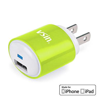 Mini USB cargador de viaje VT0009 con el iPhone 4 Cable de 1,2 m para iPhone, iPad y más (MFi licencia, Plug EE.UU.)