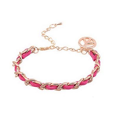 Lureme®Peace Anti-War Pendant Flocking Chain Bracelet(Assorted Colors)