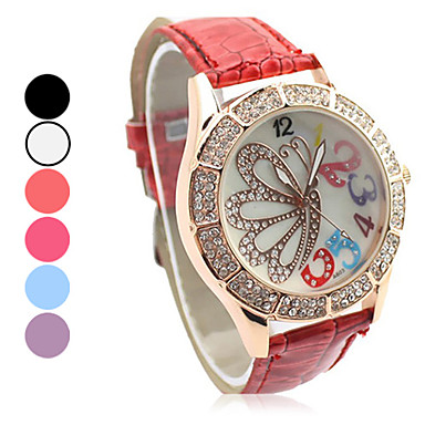 Women's Quartz Analog Butterfly Pattern Wrist Watch (Assorted Colors) Cool Watches Unique Watches