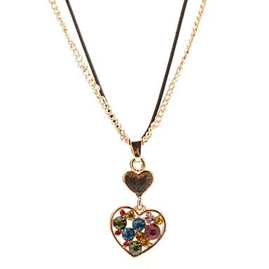 Gold Diamond Heart Necklace
