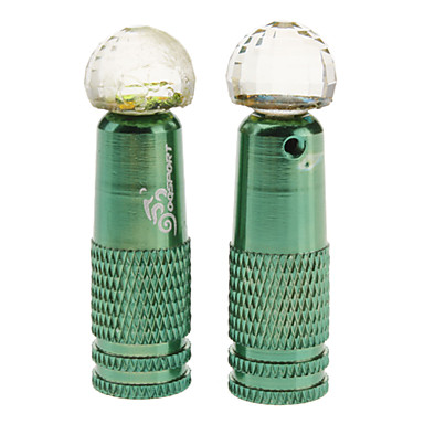 OQ Sports New-style Metal Crystal-shaped Gas Nozzle(2 Pcs)