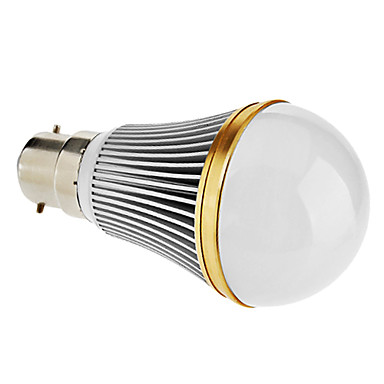 B22 5 W 5 High Power LED 350 LM Natural White A Dimmable Globe Bulbs AC 220-240 V