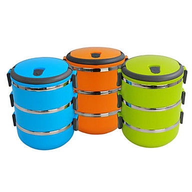 Portable 3-Tier Insulation Bento Lunch Box (Assorted Colors)