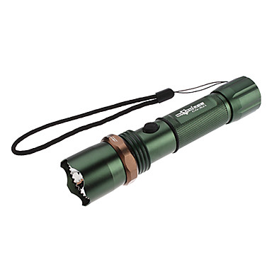 SkyEye CG-X21 genopladelige Focus Justerbar zoom 3-Mode Cree XR-E Q5 LED lommelygte (200LM, 1x18650, 3xAAA)