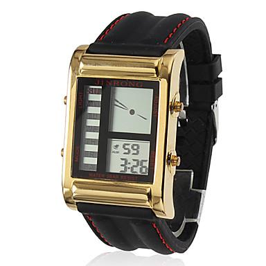 Silicone Digital relógio de pulso automático dos homens (preto)