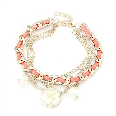 Eruner®Gold Plated Alloy Coin Pendant Bracelet