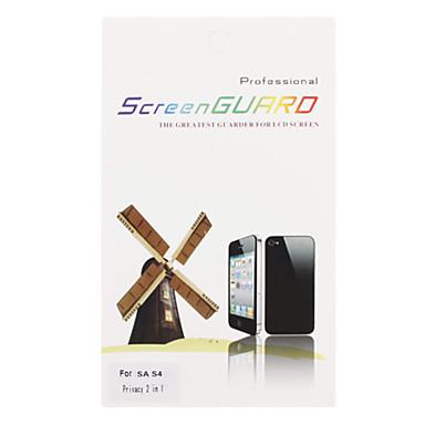 2 в 1 Анти-Шпион Конфиденциальность экран протектор с Ткань для очистки для Samsung Galaxy i9500 S4
