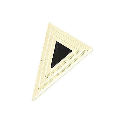 Aleación de acrílico del anillo del patrón del triángulo plateado oro (colores surtidos)
