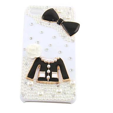 carino perla vestiti bowknot Caso duro del modello per 5/5s iphone (bianco)