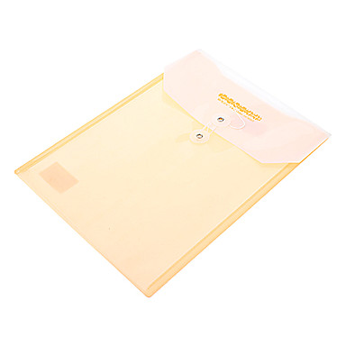 A4 Paper File Bag With Button (Random Color)