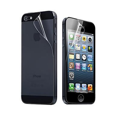 3x trasparente per la protezione dello schermo anteriore e posteriore per iphone 5 iphone se / 5s / 5c / 5
