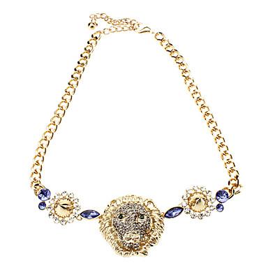 Brave Tiger Diamant-Halskette