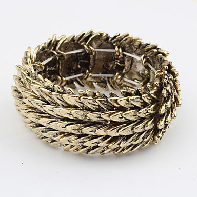 Vintage Alloy Feather Pattern Connected Bracelet (assorterte farger)
