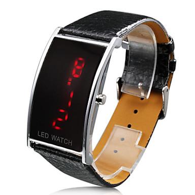 Relógio de Mulher LED em Pele