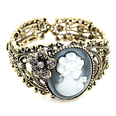 Femme Bracelets Rigides Bracelets Vintage Acrylique Alliage Bijoux Regalos de Navidad Décontracté