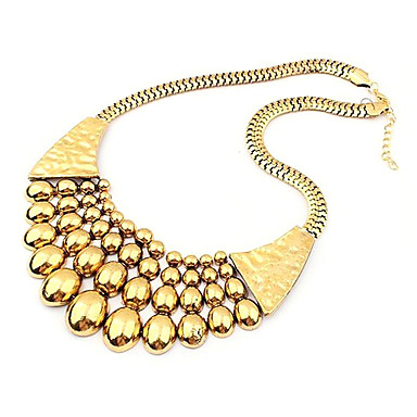 Eruner®Punk Style Vintage Gold Plated Alloy Necklace