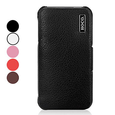 Solid Color Lichee Pattern PU Leather Full Body Case for iPhone 4/4S (Assorted Colors)