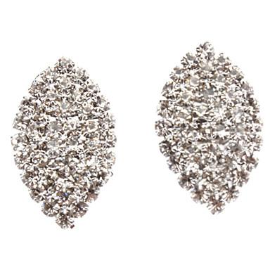 Full Diamond Leaf Earring