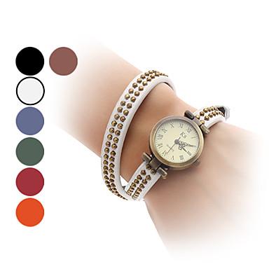 Women's Quartz Bracelet Watch Japanese Hot Sale Band Vintage Fashion Bangle Black White Blue Red Orange Brown Green
