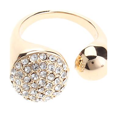 Simple anillo de diamante completo