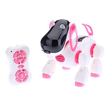 Pink & White Mini Infrared Remote Control Dog Toy