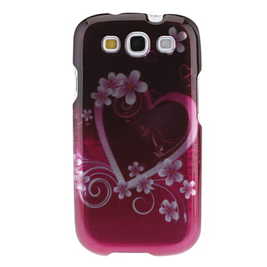 Rosy Heart and Flower Pattern Hard Case for Samsung Galaxy S3 I9300