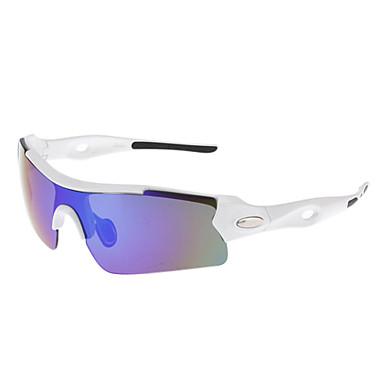 OREKA Unisex Blue Revo Lens White Frame Semi-rimless Sports Glasses